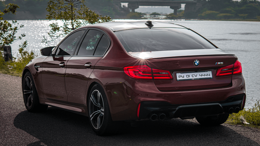 India's first BMW F90 M5 in Aventurine Red shade